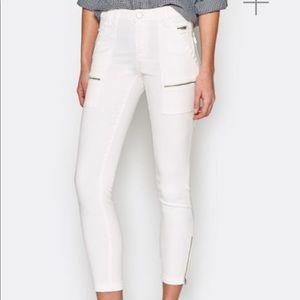 Joie park skinny white jeans
